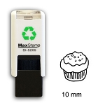 MUFFIN Loyalty Card Stamp 10mm Square Self Inking Maxum SI-5205