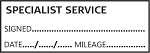 SPECIALIST SERVICE - Garage / Mechanic Service Book Stamp