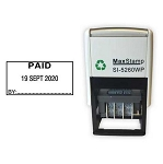 PAID Self Inking Date Stamp - MaxStamp 5260 Date Stamp 41X21mm