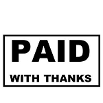 PAID WITH THANKS Stamp - 46x16mm - Self Inking - Ready Made - Max 2