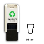 PINT GLASS Loyalty Card Stamp 10mm Square Self Inking Maxum SI-5205