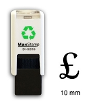 POUND SIGN £ Loyalty Card Stamp 10mm Square Self Inking Maxum SI-5205