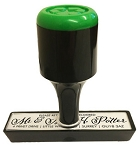 Custom Rubber Stamp 75x25mm RS9 Traditional Style