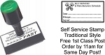 Service History Stamp for DIY Mechanics - SELF SERVICED etc 50x25mm PISTON Image