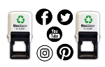 Social Media Rubber Stamp Self Inking 28mm Facebook, Twitter, YouTube, Instagram or Pinterest