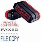 Trodat 3 in 1 Pre-Inked Stamp - Private & Confidential / Faxed / File Copy