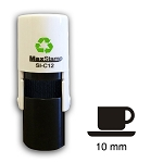 Cup & Saucer Loyalty Card Stamp10mm Round C12 Self Inking Maxum SI-C12
