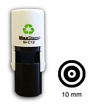 Target Loyalty Card Stamp10mm Round C12 Self Inking Maxum SI-C12