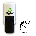 Gymnast Loyalty Card Stamp10mm Round C12 Self Inking Maxum SI-C12