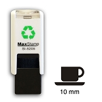 CUP AND SAUCER Loyalty Card Stamp 10mm Square Self Inking Maxum SI-5205
