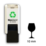 WINE GLASS Loyalty Card Stamp 10mm Square Self Inking Maxum SI-5205