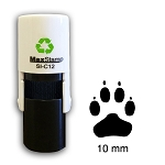 Paw Print Loyalty Card Stamp 10mm Round C12 Self Inking Maxum SI-C12