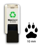 PAW PRINT Loyalty Card Stamp 10mm Square Self Inking Maxum SI-5205
