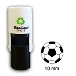 Football Loyalty Card Stamp10mm Round C12 Self Inking Maxum SI-C12