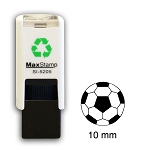 FOOTBALL  Loyalty Card Stamp 10mm Square Self Inking Maxum SI-5205