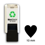 LOVE HEART  Loyalty Card Stamp 10mm Square Self Inking Maxum SI-5205