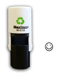 Smiley Face Loyalty Card Stamp10mm Round C12 Self Inking Maxum SI-C12