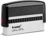 Trodat Printy 4916 Self Inking Stamp 68x9mm 6/4916