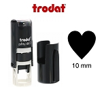 Heart Loyalty Card Stamp 10mm Round Self Inking Trodat 4612 6/4612