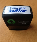 Follow us on Twitter Stamp Self Inking Stamp 46x16mm Maxum SI-20 Social Media
