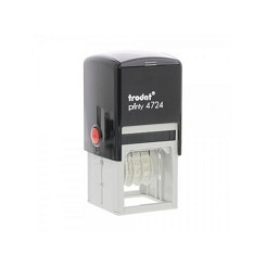 Trodat 4724 Date Stamp Self Inking 38x38mm Square