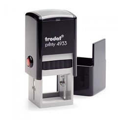 Trodat Printy 4933 23mm Square Self Inking Rubber Stamp. Custom Made and Personalised to your Bespoke text or logo design