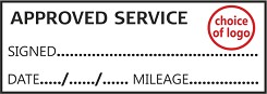 APPROVED SERVICE - Garage / Mechanic Service Book Stamp