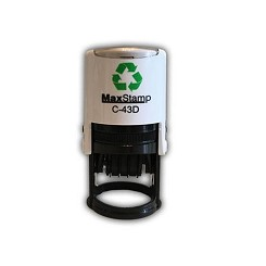 MaxStamp C43/D/2 41mm Round Two Colour Custom Date Stamp Self Inking Maxum SI-C43D/2