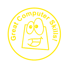 Great Computer Skills Teacher Stamp  18mm