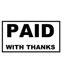 PAID WITH THANKS - Self Inking - Office Stamp