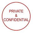 Private & Confidential STAMP SELF INKING 15MM