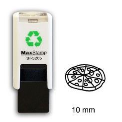 PIZZA Loyalty Card Stamp 10mm Square Self Inking Maxum SI-5205