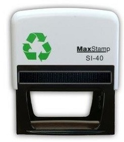 MaxStamp SI-40 Self Inking Stamp 73x35mm Maxum 4 - 8 Lines