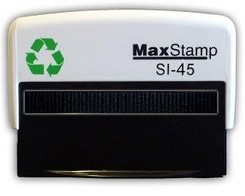 Custom Made Stamp - MaxStamp SI-45 78x23mm - You can add text up to 5 lines with 40 characters on each line and a logo if required. Simply upload your logo and the text you need and we will create the artwork and email you a PDF preview to check and approve. Once you approve the artwork your stamp will be made and posted the same day if approved before 11am or the next working day (M-F)