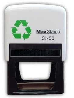 Custom Made Stamp - MaxStamp SI-50 58x38mm - You can add text up to 8 lines with 30 characters on each line and a logo if required. Simply upload your logo and the text you need and we will create the artwork and email you a PDF preview to check and approve. Once you approve the artwork your stamp will be made and posted the same day if approved before 11am or the next working day (M-F)