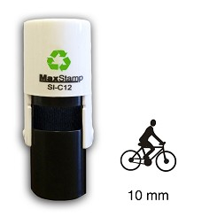 Cyclist Loyalty Card Stamp10mm Round C12 Self Inking Maxum SI-C12