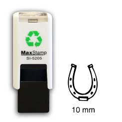 HORSESHOE Loyalty Card Stamp 10mm Square Self Inking Maxum SI-5205