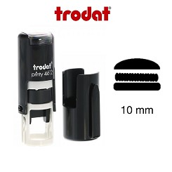 Burger Loyalty Card Stamp 10mm Round Self Inking Trodat 4612 6/4612