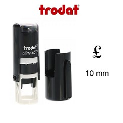Pound Sign Loyalty Card Stamp 10mm Round Self Inking Trodat 4612 6/4612